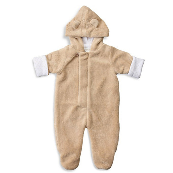 Angel Dear Kids one-pieces Fuzzy Footie-Taupe - Ever Simplicity