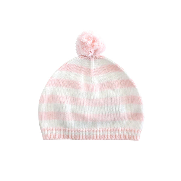 Pink Striped Beanie - Ever Simplicity
