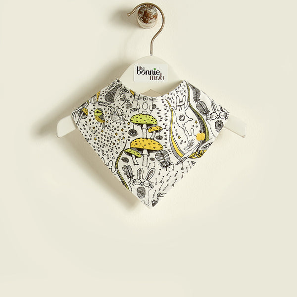 The Bonnie Mob Kids accessories Wilderness Reversible Bib-Yellow - Ever Simplicity