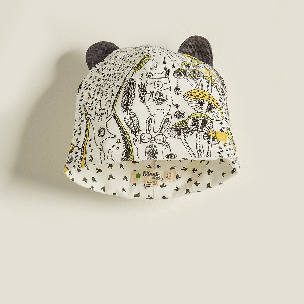 The Bonnie Mob Kids accessories Wilderness Hat with Ears-Yellow - Ever Simplicity