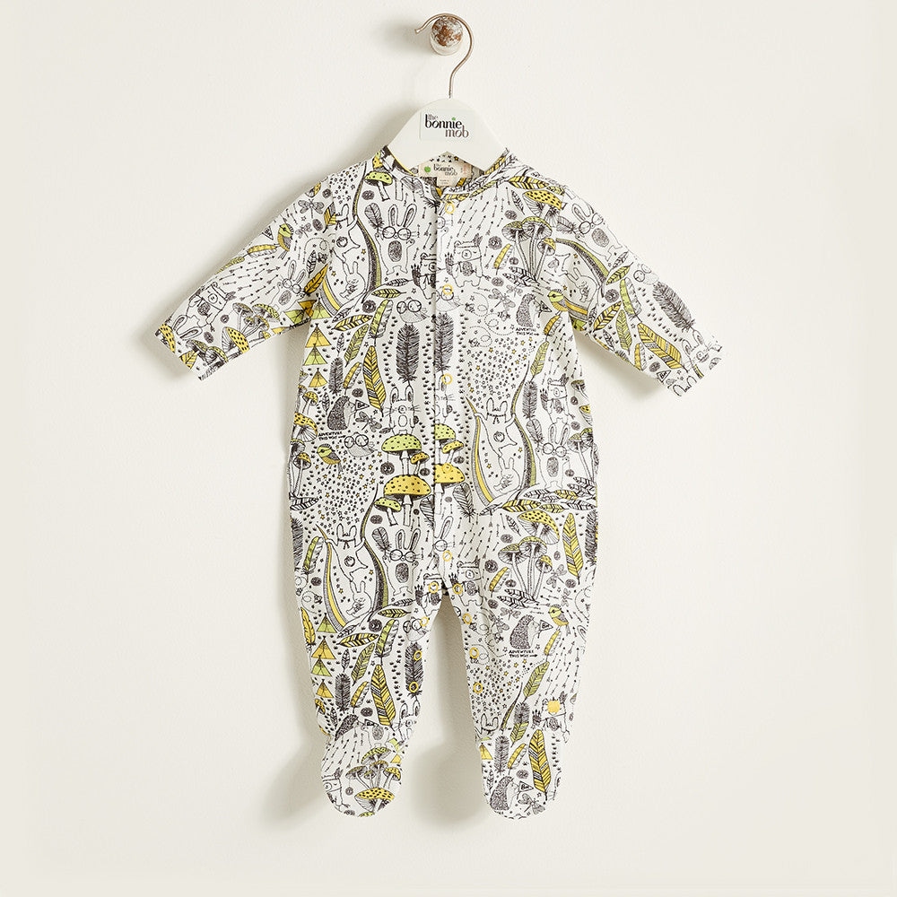 The Bonnie Mob Wilderness Footed Sleepsuit - Ever Simplicity - 1