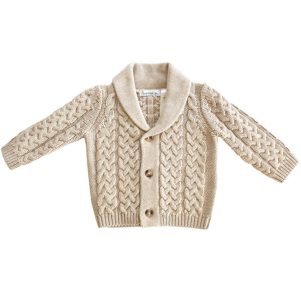 Beanstork Kids cardigan Beige Cable Knit Cardigan - Ever Simplicity