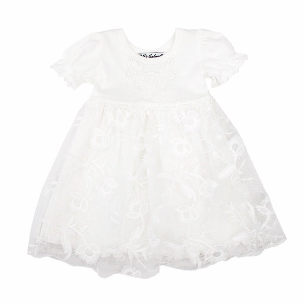BeBe Gabrielle Kids dresses Big Flower Tulle Dress - Ever Simplicity
