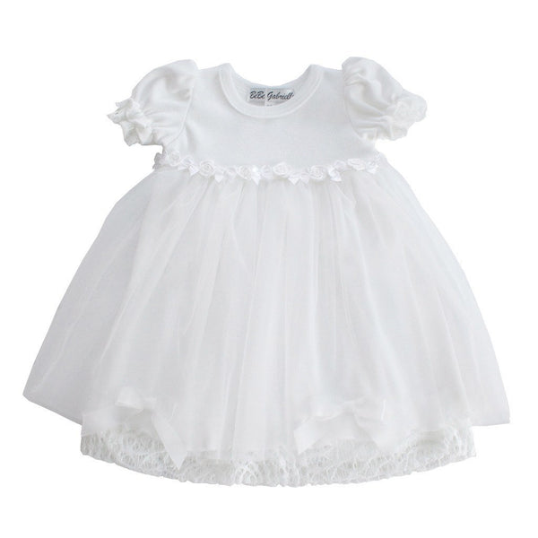 BeBe Gabrielle Baby dress Small Ribbon White Baby Dress - Ever Simplicity