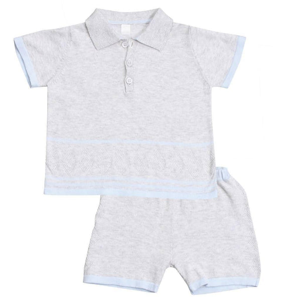 Angel Dear Kids sets Golf Polo Top & Short Set  Henley - Ever Simplicity