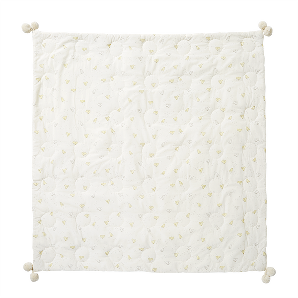 Petit Pehr Kids accessories Baby Chick Quilted Pom Pom Blanket - Ever Simplicity