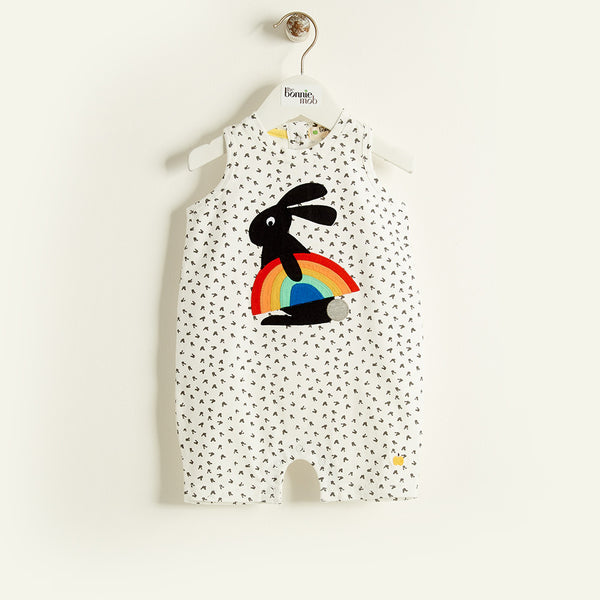 The Bonnie Mob Rainbow Bunny Romper - Ever Simplicity - 1