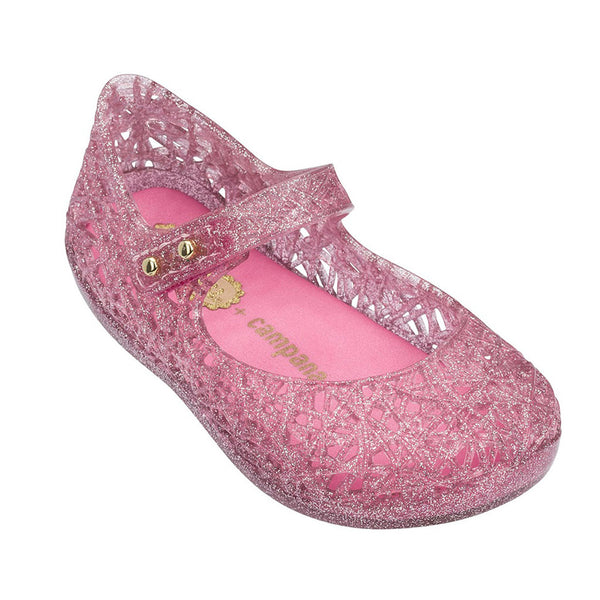 Mini Melissa Kids accessories Campana Zig Zag-Pink Candy Glitter - Ever Simplicity