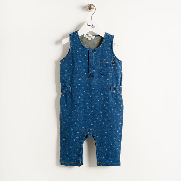 The Bonnie Mob Kids one-pieces Indigo Terry Jumpsuit - Ever Simplicity
