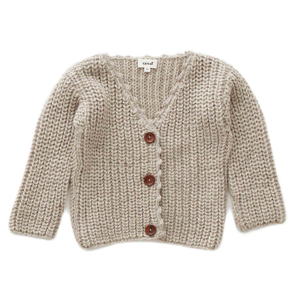 Oeuf Kids cardigans English Cardi-Grey - Ever Simplicity