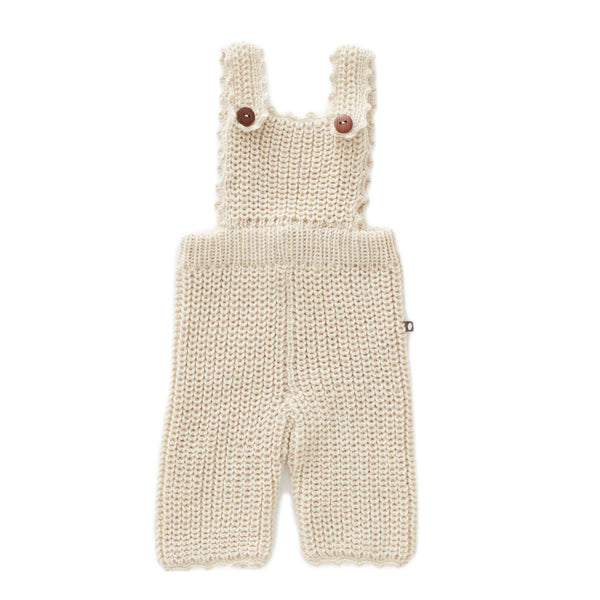 Oeuf Kids one-pieces English Overall-White - Ever Simplicity