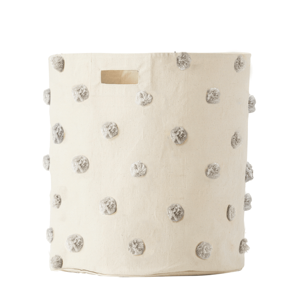 Petit Pehr Kids accessories Grey Pom Pom Hamper - Ever Simplicity