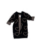Huxbaby Kids Cardigans Heart Knit Cardigan - Ever Simplicity