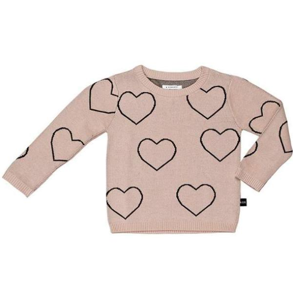 Huxbaby Kids Tops Heart Knit Sweater - Ever Simplicity