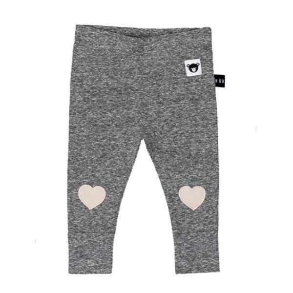 Huxbaby Kids Bottoms Heart Applique Skinny Leggings - Ever Simplicity