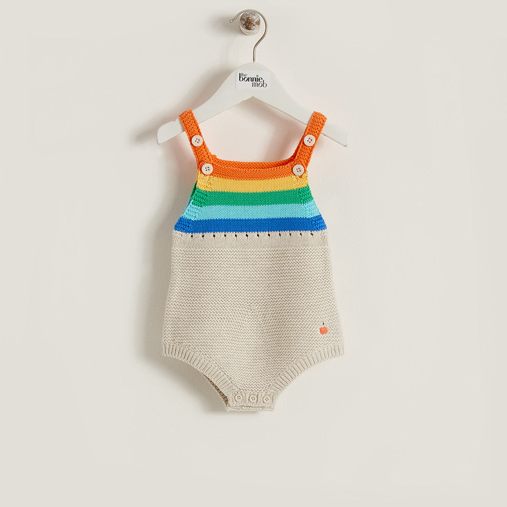 The Bonnie Mob Rainbow Knitted Romper - Ever Simplicity - 1
