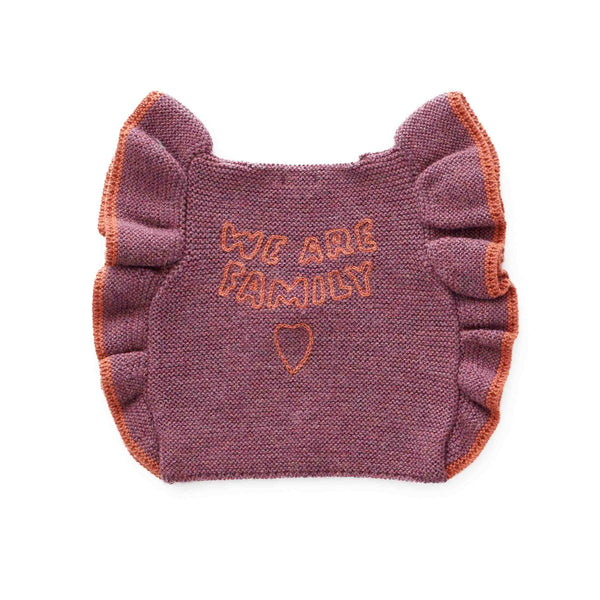 Oeuf Kids cardigans Ruffle Vest-Mauve/Apricot - Ever Simplicity