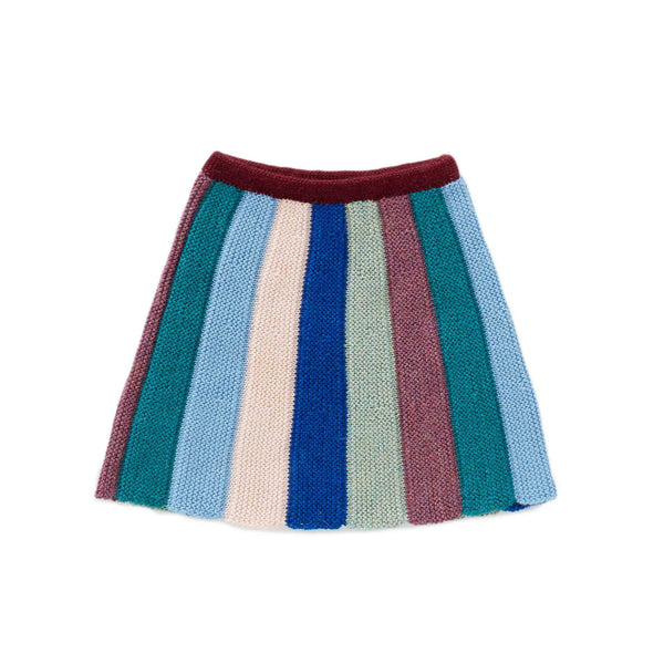 Oeuf Kids bottoms Everyday Skirt-Teal/Multi - Ever Simplicity