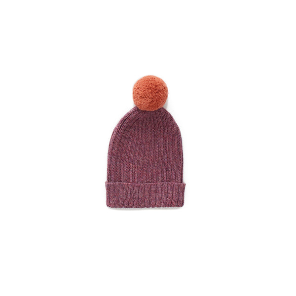 Oeuf Kids accessories Pom Pom Hats-Mauve/Apricot - Ever Simplicity