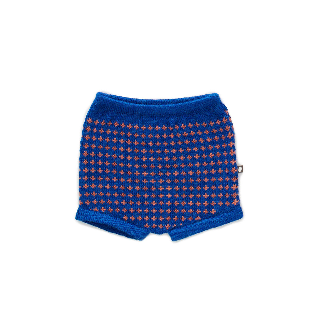 Oeuf Kids bottoms Shorts-Electric Blue/Apricot - Ever Simplicity