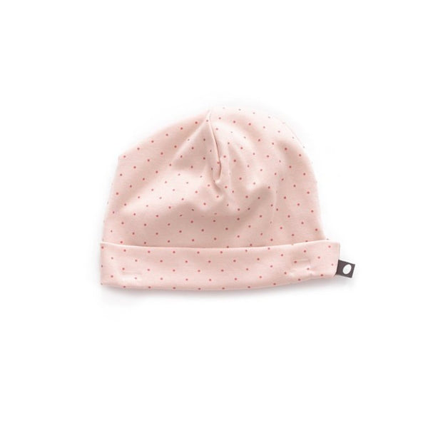 Oeuf Kids accessories Beanie-Light Pink/Rust Dots - Ever Simplicity