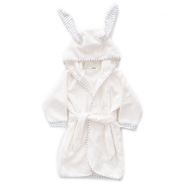 Oeuf Kids accessories Hooded Robe-White/Numbers - Ever Simplicity