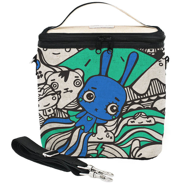 PIXOPOP FLYING STITCH BUNNY Large COOLER BAG