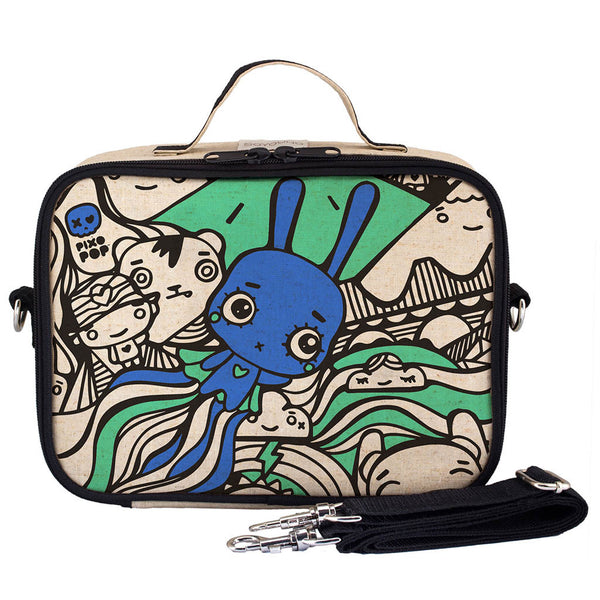 PIXOPOP FLYING STITCH BUNNY LUNCH BOX