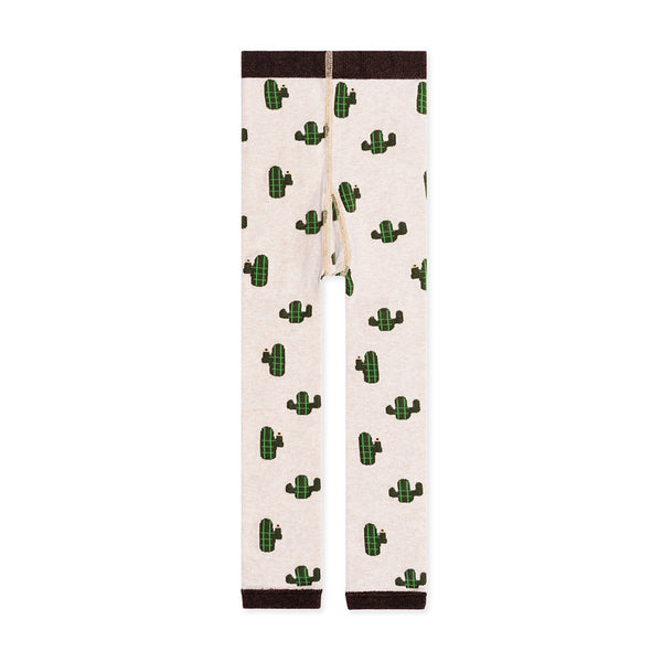 Mini Cacti Legging-Flax