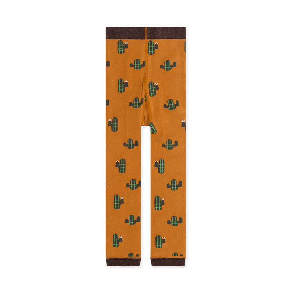 Mini Cacti Legging-Mustard