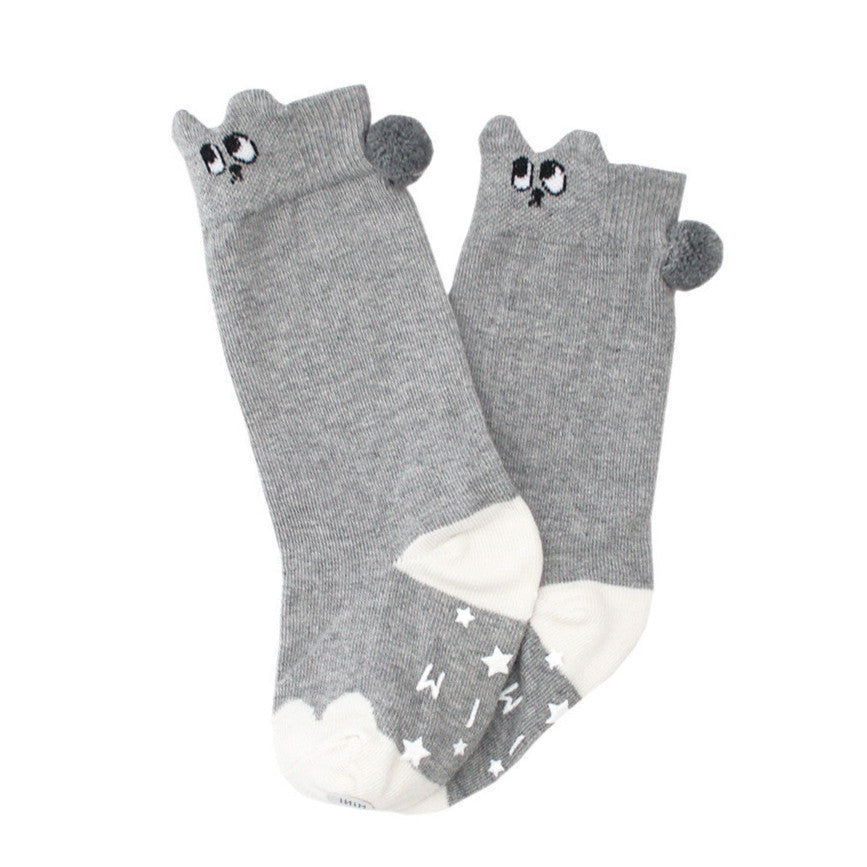mini dressing Kids accessories Bunny Knee Socks - Grey - Ever Simplicity