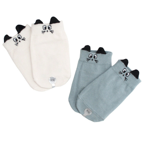 mini dressing Kids accessories Bunny Socks Set-Blue/Cream - Ever Simplicity