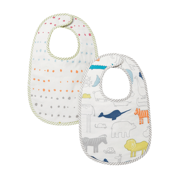 Petit Pehr Kids accessories Noah's Ark & Painted Dots Bibs - Ever Simplicity