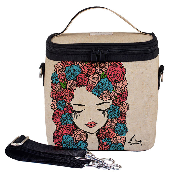 Pixopop Roses Girl Large Cooler Bag