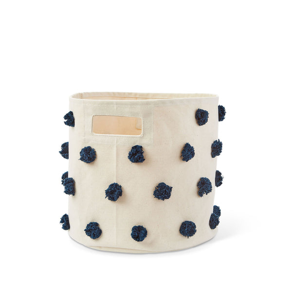 Petit Pehr Kids accessories Navy Pom Pom Bin - Ever Simplicity