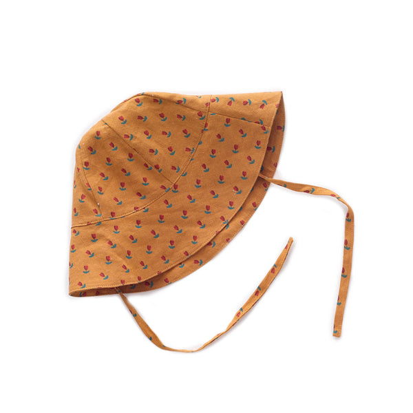 Oeuf Kids accessories Baby Hat-Ochre/Tulips - Ever Simplicity