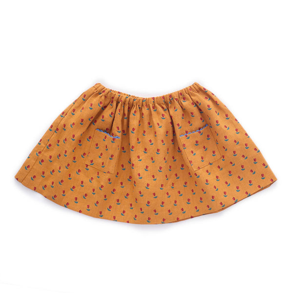 Skirt-Ochre/Tulips