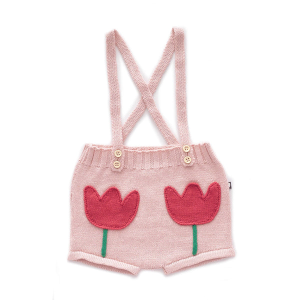 Tulip Pocket Shorts-Light Pink