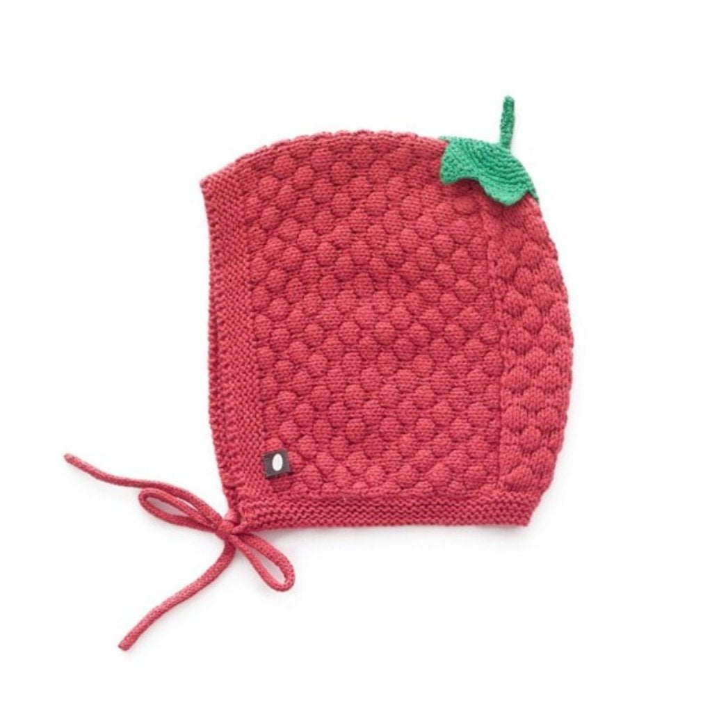 Oeuf Kids accessories Honeycomb Knit Hat-Cranberry - Ever Simplicity
