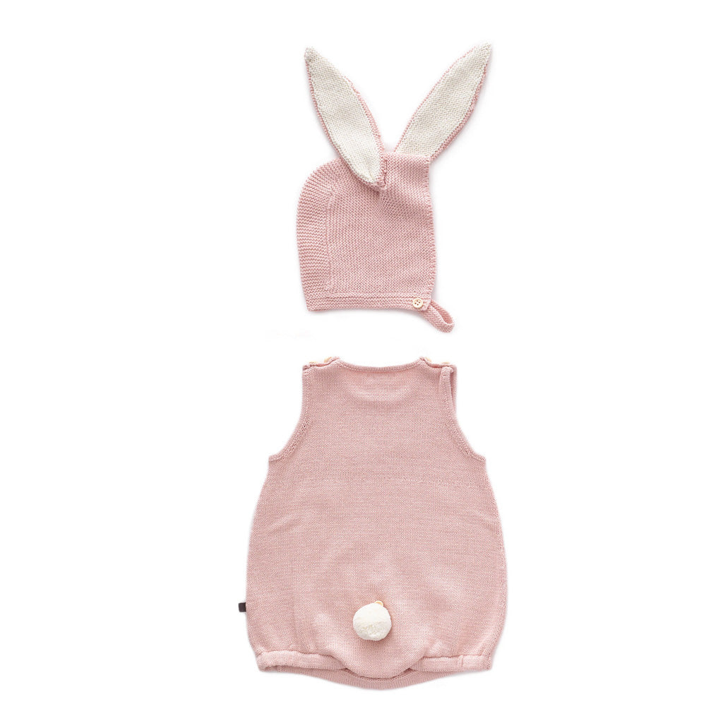 Oeuf Kids one-pieces Bunny Set-Light Pink - Ever Simplicity