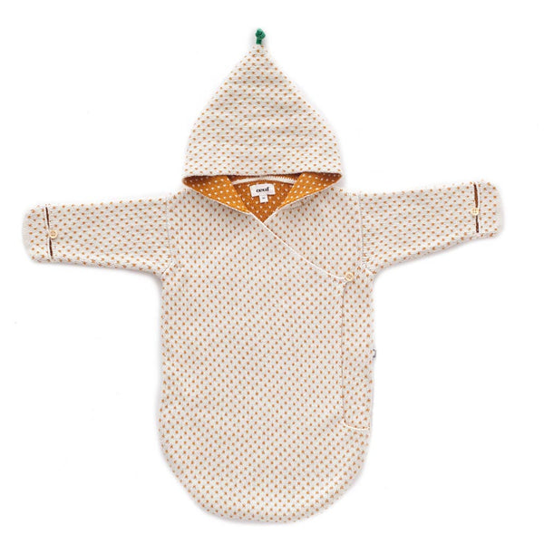 Oeuf Kids accessories Daisy Wrap-White/Ochre Dots - Ever Simplicity