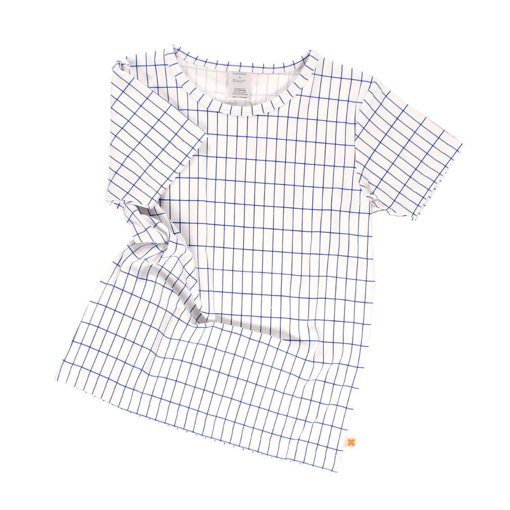 tinycottons Kids tops grid SS tee-blue - Ever Simplicity