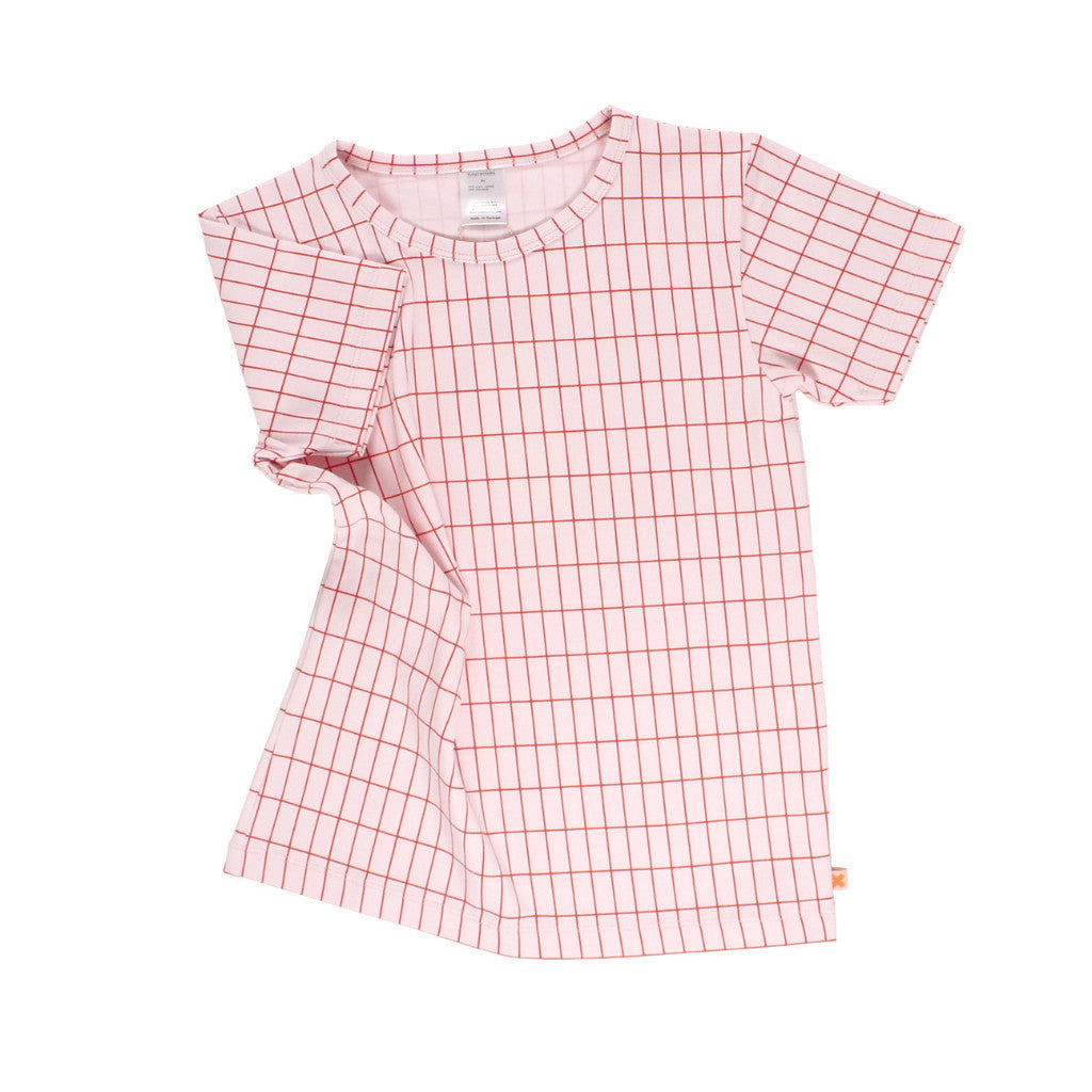 tinycottons Kids tops grid SS tee-pink - Ever Simplicity