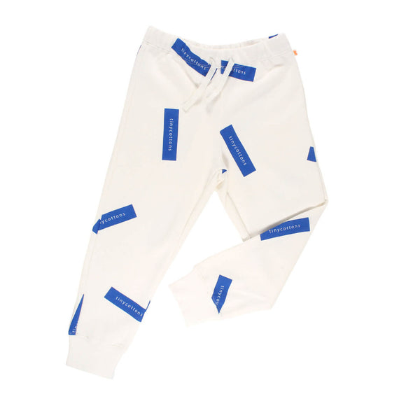tiny logo sweat pant-off white/blue
