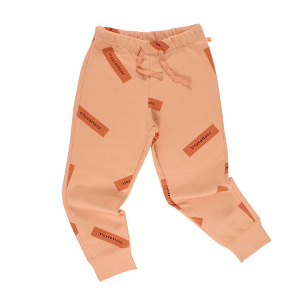 tiny logo sweat pant-nude/dark peach