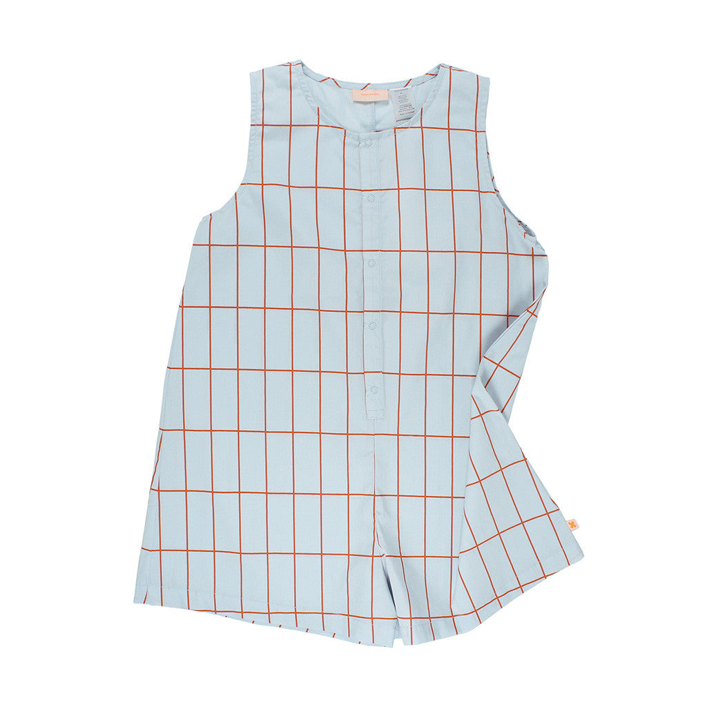 tinycottons Kids one-pieces big grid short onepiece - Ever Simplicity