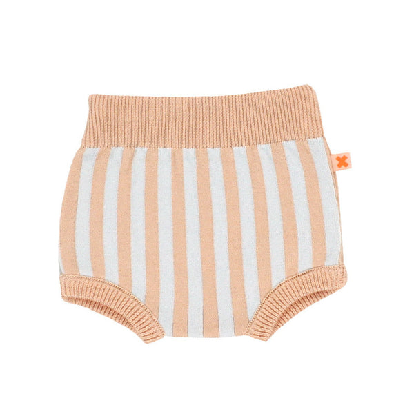 tinycottons baby stripes bloomer knit-light blue/nude - Ever Simplicity