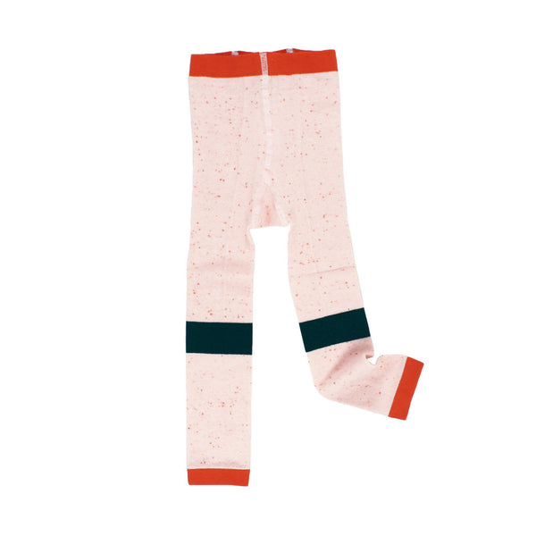 tinycottons Kids accessories line melange leggings-pale pink/red - Ever Simplicity