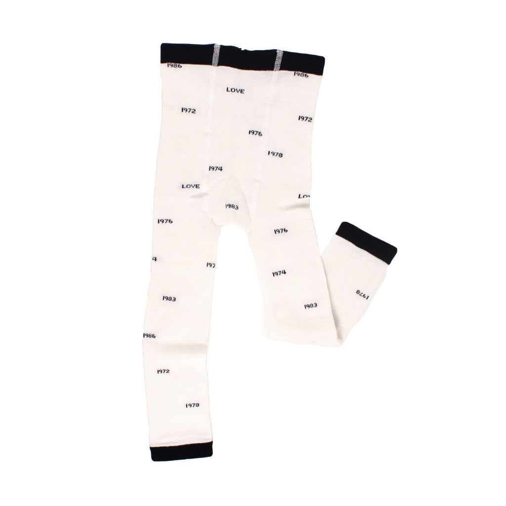 tinycottons years leggings-off white/dark navy - Ever Simplicity - 1