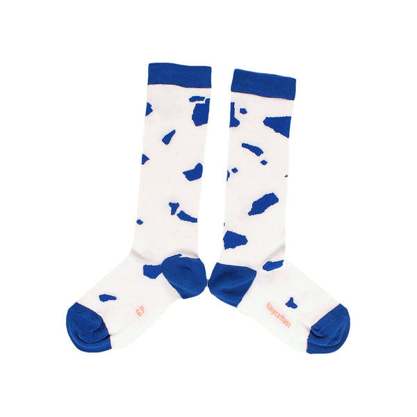 tinycottons Kids accessories cut-outs high socks-off white/blue - Ever Simplicity